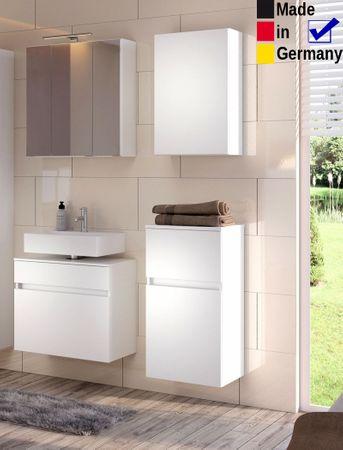 Badezimmer Britt 26 weiß 4-teilig 3D Spiegelschrank Badmöbel