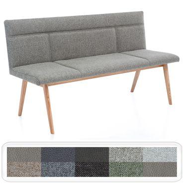 Polsterbank Aranel mit Lehne Sitzbank 160cm 180cm Massivholz Varianten