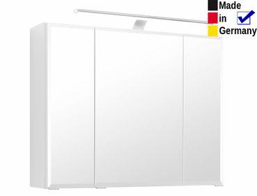 3D Spiegelschrank Novello 10 weiß 80x64x20 cm Badspiegel LED