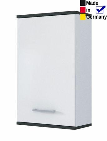 Hängeschrank Lutz 1 weiß graphit 40x67x20 cm Wandschrank Badschrank