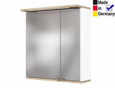 Spiegelschrank Lutz 6 weiß Buche 60x67x20 cm Badspiegel LED