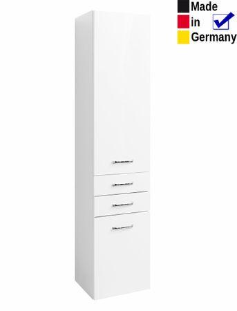 Hochschrank Finja 6 Hochglanz weiß 40x180x35 cm Badschrank Badmöbel