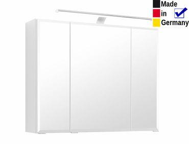 3D Spiegelschrank Finja 10 weiß 80x64x20 cm Badspiegel LED Badmöbel