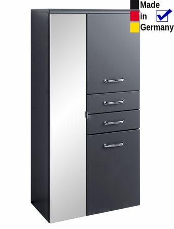 Midischrank Finja 4 anthrazit 65x130x35 cm Badschrank Badmöbel