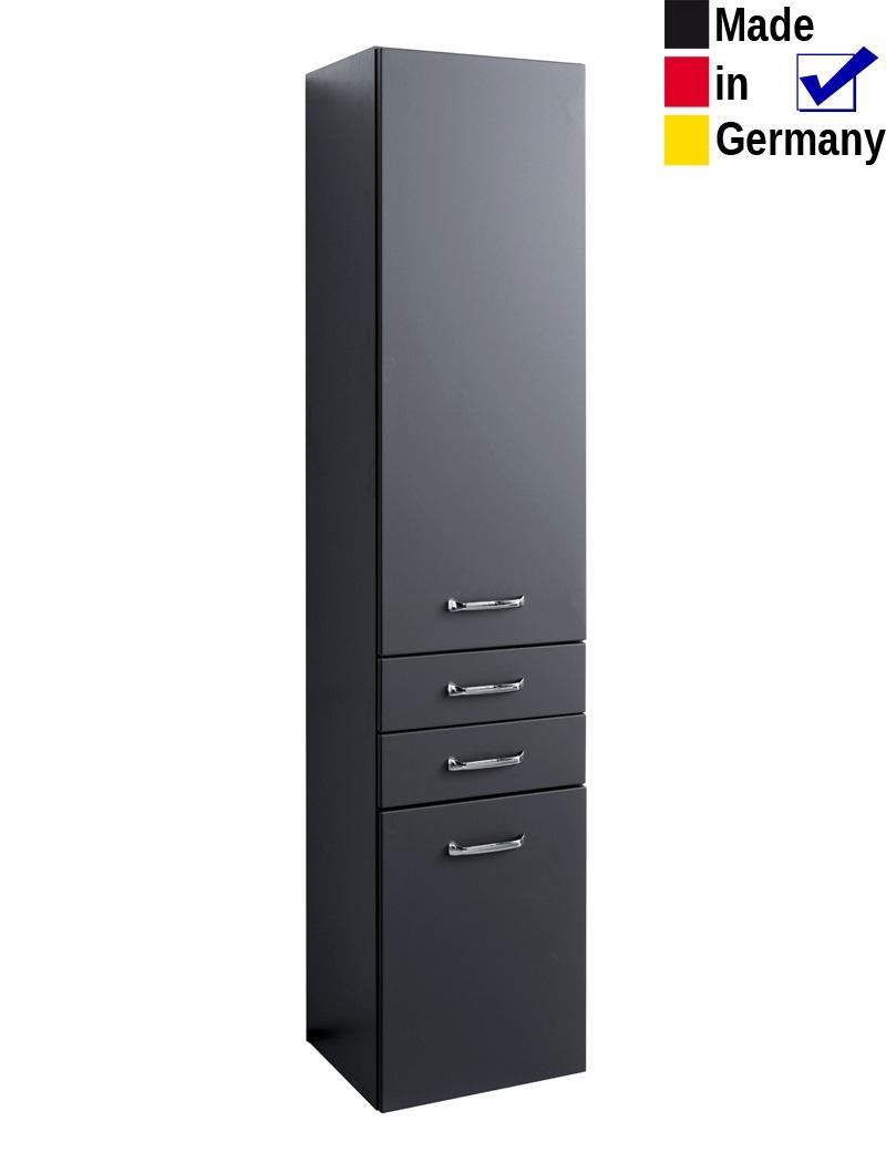 Hochschrank Finja 6 Anthrazit 40x180x35cm Seitenschrank Badschrank