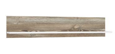 Wandboard Bianca Picea Kiefer weiß 150x30x22 cm Wandregal Regal