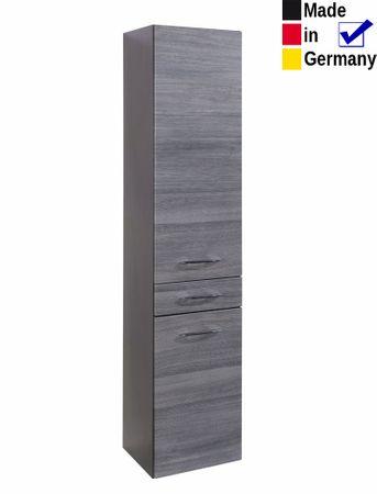 Hochschrank Fiona 6 Eiche Rauchsilber 40x180x35 cm Seitenschrank