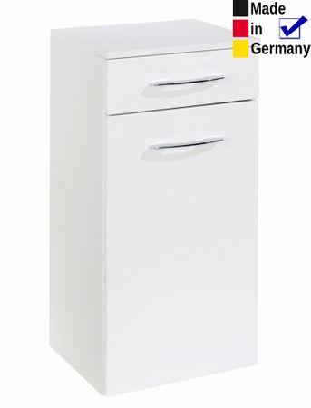 Unterschrank Fiona 2 Hochglanz weiß 40x79x35 cm Badschrank Badmöbel