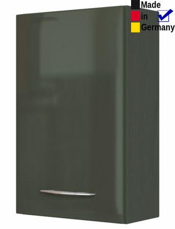 Hängeschrank Fiona 1 Hochglanz grau 40x64x20 Wandschrank Badschrank