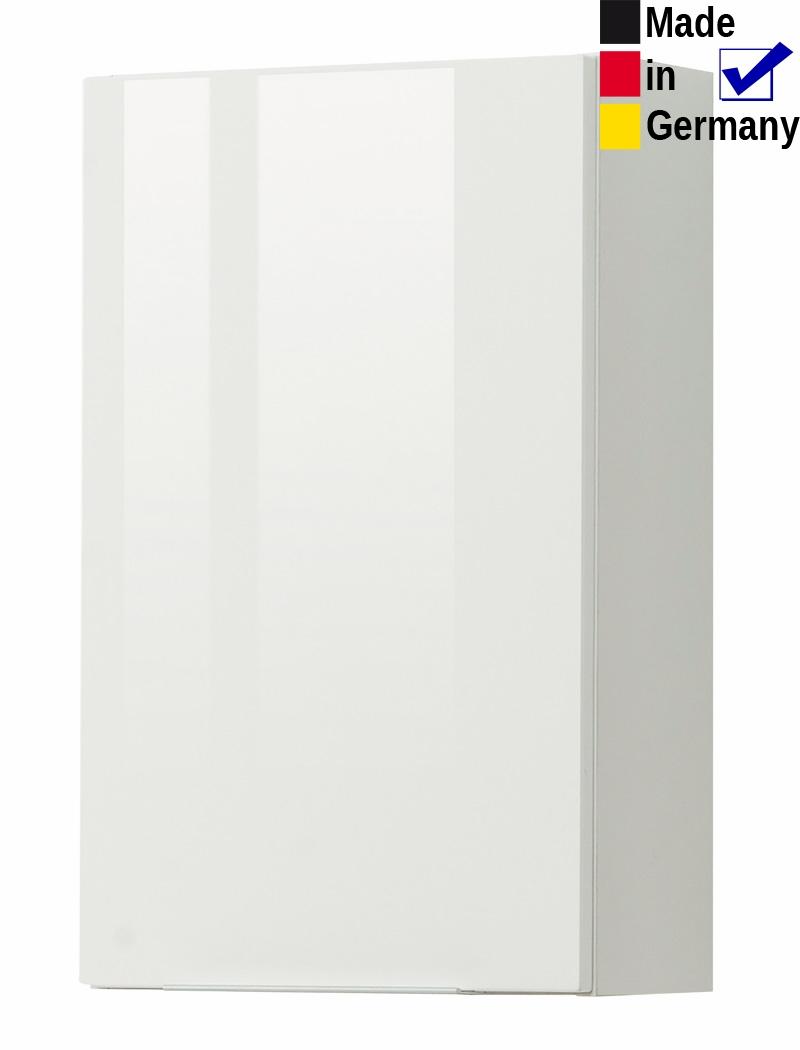 Hängeschrank Rasmus 1 Hochglanz weiß 40x64x20 cm Wandschrank Badschrank