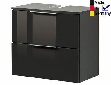 Unterbeckenschrank Rasmus 7 Hochglanz grau 60x54x35 cm Badschrank