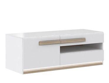 Lowboard Aubry 10 Hochglanz weiß 140x50x53 cm TV-Board LED TV-Schrank