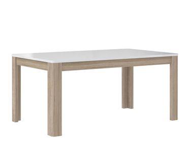 Esstisch Aubry 14 Hochglanz weiß 160(207)x90x73 cm Esszimmertisch