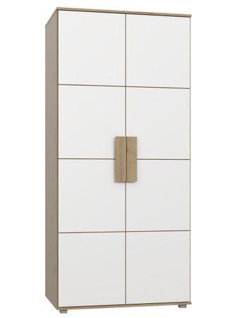 Kleiderschrank Aachen 7 weiß 92x202x58 cm Schlafzimmerschrank Schrank