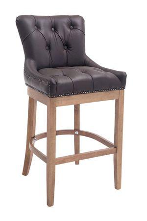 Barhocker Echtleder braun Barstuhl Stuhl Stühle Tresenmöbel 44855239