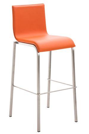 Barhocker Kunstleder orange Barstuhl Stuhl Stühle Tresenmöbel 44855262