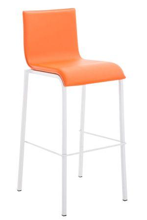 Barhocker Kunstleder orange Barstuhl Stuhl Stühle Tresenmöbel 44855273