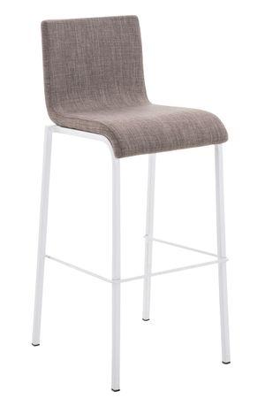 Barhocker Stoff grau Barstuhl Stuhl Stühle Küche Tresenmöbel 44855291