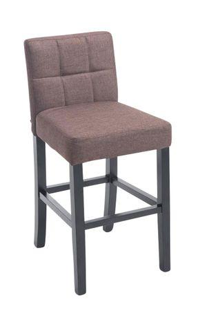 Barhocker Stoff braun Barstuhl Stuhl Stühle Küche Tresenmöbel 44855313