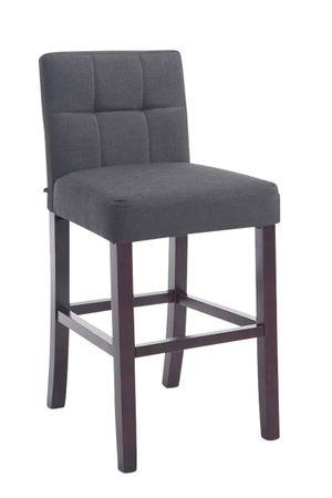 Barhocker Stoff dunkelgrau Barstuhl Stuhl Stühle Tresenmöbel 44855317