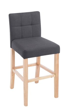 Barhocker Stoff dunkelgrau Barstuhl Stuhl Stühle Tresenmöbel 44855320