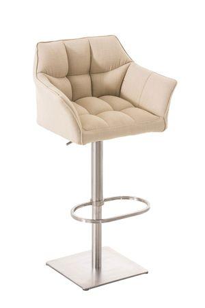 Barhocker Stoff creme Barstuhl Stuhl Stühle Küche Tresenmöbel 44855347