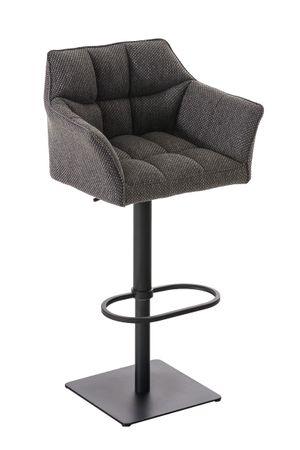 Barhocker Stoff titangrau Barstuhl Stuhl Stühle Tresenmöbel 44855368