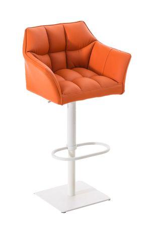 Barhocker Kunstleder orange Barstuhl Stuhl Stühle Tresenmöbel 44855389
