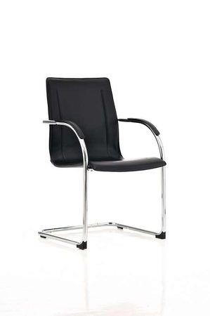 Polsterstuhl Kunstleder schwarz Esszimmerstuhl Stuhl Stühle 44855533