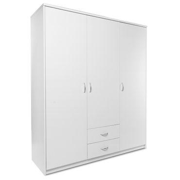 Kleiderschrank Koblenz 60 weiß 160x188x54 cm Schlafzimmerschrank