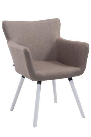 Polsterstuhl Stoff taupe Esszimmerstuhl Stuhl Stühle Sessel 44855619
