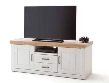 Lowboard Bruneck 7 Pinie weiss Nb 158x63x52 cm TV-Board Wohnzimmer