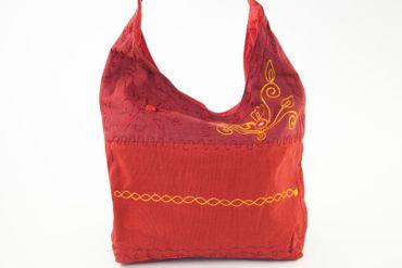 (B-Ware) Patchworktasche Rot  Biobaumwolle – Bild 3