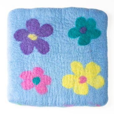 Kissen Flower Hellblau – Bild 1