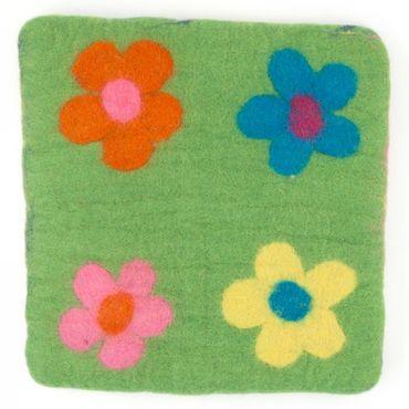 Kissen Flower Grasgrün – Bild 2