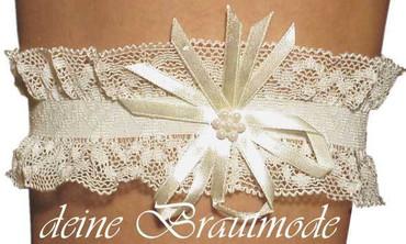 Strumpfband z. Brautkleid weiss ivory champagner blau – Bild 3