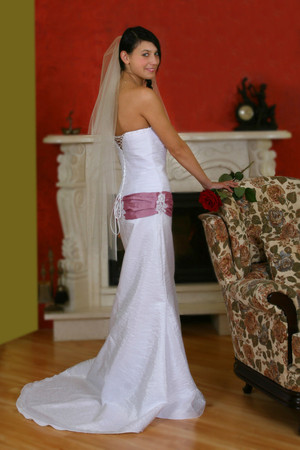 Hochzeitskleid Brautkleid Abendkleid Festkleid Spitze Taft mehrfarbig
