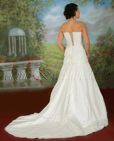 Brautkleid mit Schleppe Spitze günstige Hochzeitskleider Maßanfertigung online – Bild 2