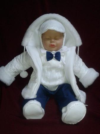 SET Winterjacke Taufanzug Festanzug Jacke Hose Taufe Baby Anzug Winter Junge neu – Bild 4