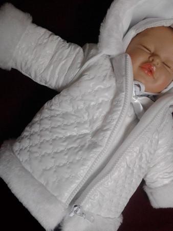 Taufanzug Festanzug Winterjacke Jacke Hose Taufe Baby Junge Anzug SET Winter – Bild 2