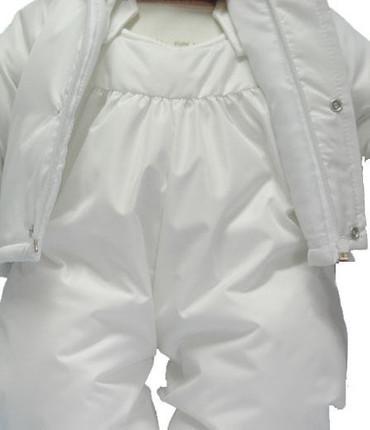 SET Winterjacke Kapuzenjacke Latzhose Baby Jacke Hose mit Trägern Festanzug – Bild 2