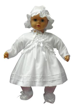 SET Kleid Bolero Hut Taufe Taufkleid Festkleid Freizeit Festlich Sommerkleid