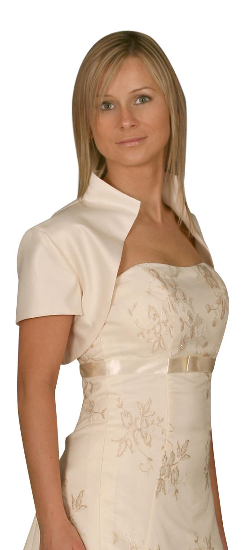 huge discount 1a9fb 94b09 Bolero Jacke Hochzeit Brautjacke weiß ivory creme champagner cappuccino  bordeaux