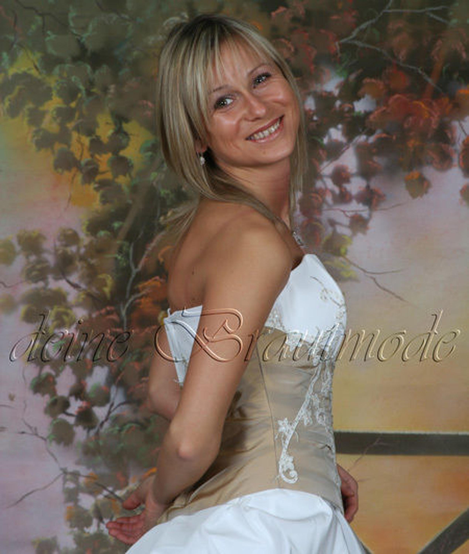 Brautkleid Ballkleid Abendkleid Hochzeitskleid Reifrock creme ...