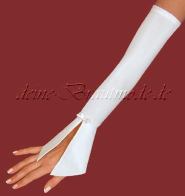 Brauthandschuhe lange Handschuhe Armstulpen Ärmel neu weiß champagner