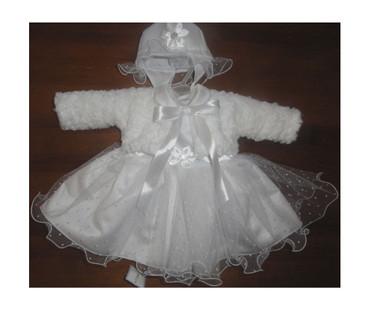 Kleid Babykleid Taufkleid Festkleid Bolero Jacke Mädchen Baby Taufe Taufjacke – Bild 1