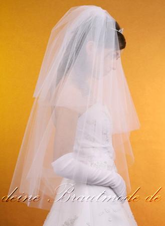 Brautschleier Schleier Kamm weiß ivory elfenbein – Bild 3