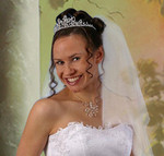 Diadem Tiara Collier Halskette Haarschmuck Kopfschmuck Halsschmuck Hochzeit 001