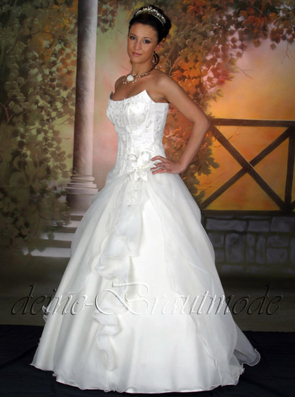 Brautkleid Hochzeitskleid Ballkleid Kleid lange Schleppe Corsage ...