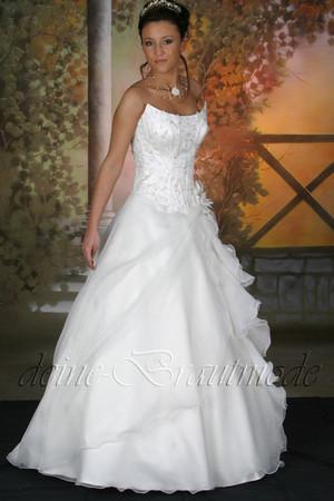Brautkleid Hochzeitskleid Ballkleid Kleid lange Schleppe Corsage Reifrock neu